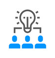 human resource management line icon team work vector image