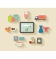 Internet shopping e-commerce concept Icons set vector image