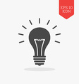 Lightbulb icon Flat design gray color symbol vector image vector image