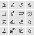 line spa icon set vector image