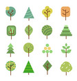 linear flat trees nature forest design vector image vector image