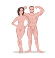 man and woman figures vector image vector image
