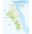 map andros island and new providence bahamas vector image vector image