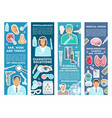 medical banners for health medicine vector image vector image