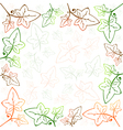 Multicolored Ivy Frame vector image
