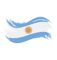 national flag of argentina designed using brush vector image vector image