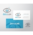 optics lab abstract logo template vector image vector image