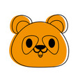panda bear cute animal cartoon icon image vector image vector image