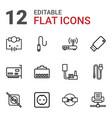 plug icons vector image vector image