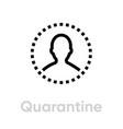 quarantine protection measures icon editable line vector image vector image