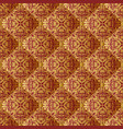 quilted fabric with vintage ornament seamless vector image