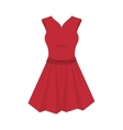 red dress fashion clothing vector image