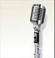 retro vintage microphone background 6 vector image vector image