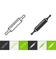 rolling pin simple black line icon vector image