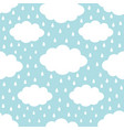 seamless pattern white cloud in sky rain drop vector image vector image