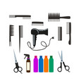set for hair salon vector image vector image