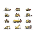 Set of construction equipment for your design vector image vector image