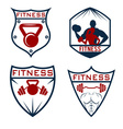 set of fitness labels vector image vector image