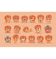 Set of Lion cubs vector image vector image