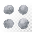 silver glitter paint brush circle stains set vector image vector image