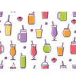 smoothies seamless pattern vector image vector image