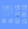 spider web thin line icon set editable stroke vector image vector image