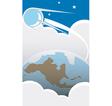 Sputnik over America vector image vector image