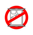 stop to sleep it is forbidden to sleeping vector image vector image