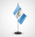 Table flag of Guatemala vector image vector image