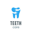 teeth care logo sign vector image