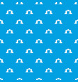 tent pattern seamless blue vector image vector image