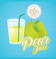 vintage fresh pear juice vector image