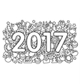 Web new year 2017 pattern trend vector image vector image