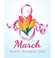 Woman international eight march day card vector image vector image