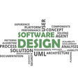 word cloud software design vector image vector image