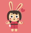 Young Bunny Girl In Love vector image vector image