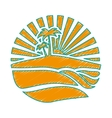abstract island icon image vector image