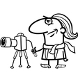 photographer cartoon coloring page vector image
