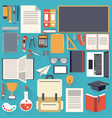 school stationary flat design object vector image