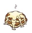 Pancakes Condensed Milk On White vector image