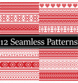 12 nordic style patterns inspired by scan vector image vector image