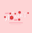 abstract floral greeting card with 8 march - paper vector image vector image