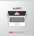 attention warning attacker alert sign with vector image