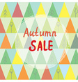 Autumn sale banner with trees in abstract style vector image vector image