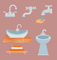 bath equipment icon toilet bowl bathroom clean vector image