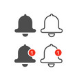 bell line icons vector image vector image