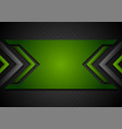black and green abstract tech background with vector image vector image
