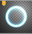 blue round shining circle frame isolated on vector image vector image