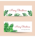 Christmas tree brunches banners vector image