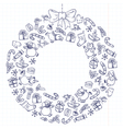 Christmas wreath vector image vector image